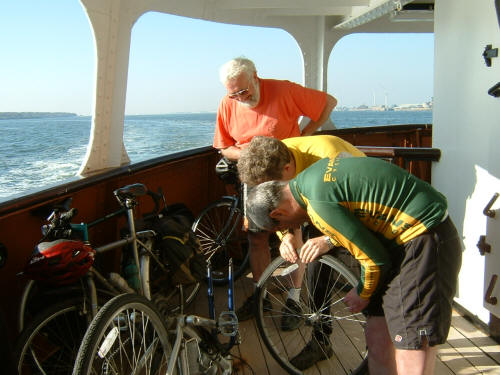 Puncture mending - Mersey Ferry